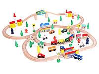 Большая деревянная железная дорога ECOTOYS XXL100