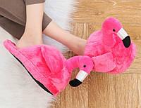 Домашние тапочки Фламинго pink, Прикольные тапки, Прикольні тапки, Домашні тапочки Фламінго pink