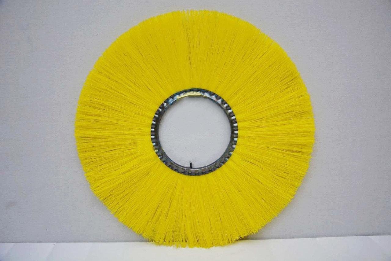 Дисковая средняя пластиковая щетка коммунальная Ender Firca Ø 180X600 (0,5 тонкий волос)