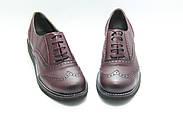 Туфли оксфорды кожаные Aras Shoes 108-Bordo, фото 3
