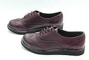 Туфли оксфорды кожаные Aras Shoes 108-Bordo, фото 2