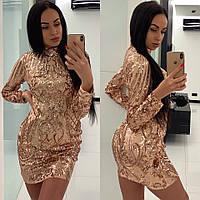 Женское платье выше колен
