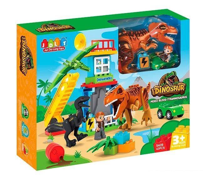 Конструктор детский JDLT 5409 Динозавры, 43 детали