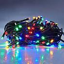 Новогодняя гирлянда нитка Xmas 200 LED ламп МУЛЬТИКОЛОР (черный провод, 6 метров), фото 2
