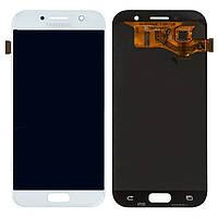 Дисплей (экран) Samsung A720F GalaxyA7 (2017) PLS TFT (с регулируемой подсветкой) с тачскрином в сборе, белый