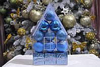 "Набор на елку  ""Теремок"" (пластик), диаметр 40, 12 шт. Цвет голубой., фото 1"