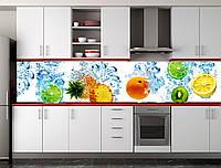 Скіналі для кухні (ламінована наклейка) Кухонний фартух фруктовий фон. Розмір 600*3000 мм. Код-09706