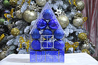 "Набор на елку  ""Теремок"" (пластик), диаметр 40, 12 шт. Цвет синий., фото 1"