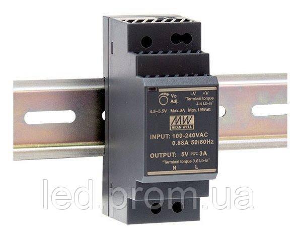 Блок питания Mean Well на DIN-рейку 24Вт 12В IP20 (HDR-30-12)
