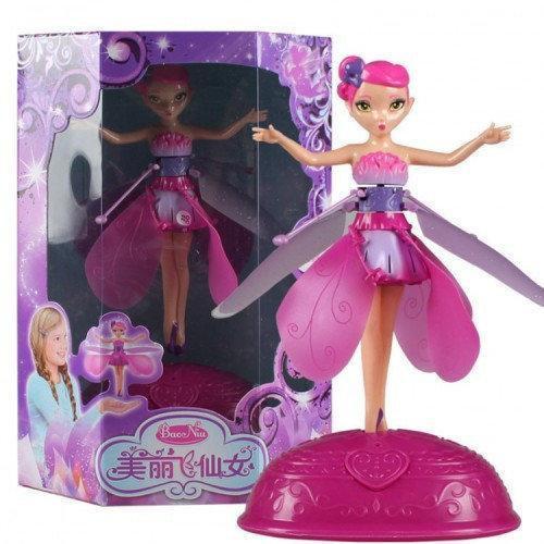 Летающая кукла фея Flying Fairy c подставкой  | Летит за рукой | Волшебство в детских руках