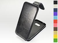 Откидной чехол из натуральной кожи для Samsung Galaxy S7 G930