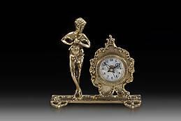 Часы настольные VIRTUS FLUTE-MAN 17 x 17 см 980 гр Золотистый 130019, КОД: 1180865