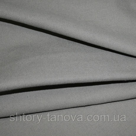 Ткань для обивки и штор хлопок софт, т.серый