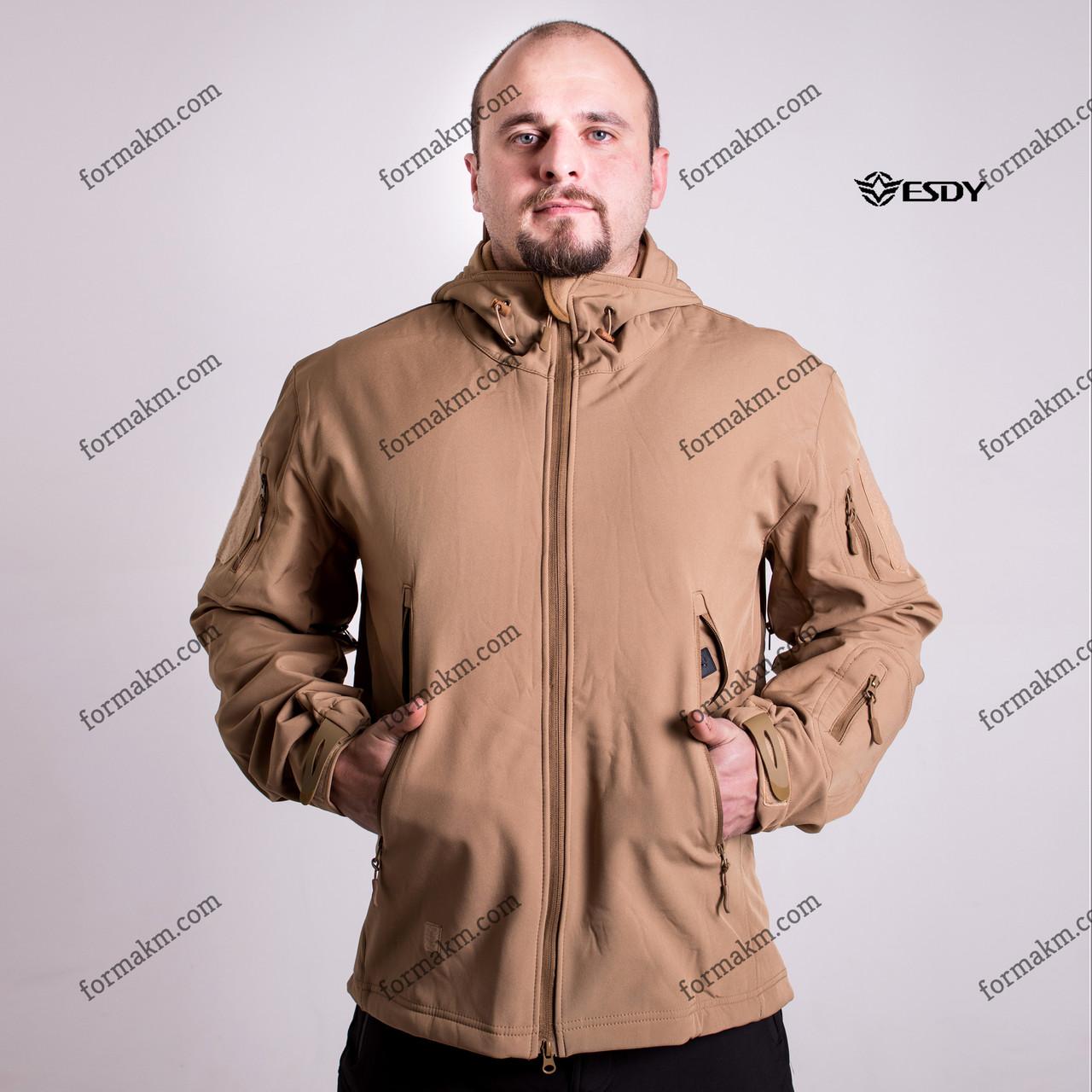 Тактическая куртка Демисезонная ESDY SoftShell Ranger Coyote