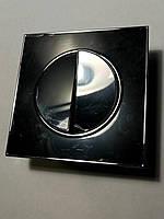 Выключатель двухклавишный черный Laura Right Hausen HN-015042