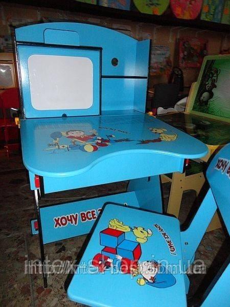 Парта дитяча+стілець W055 A, растишка-трансформер. київ Код W 055A
