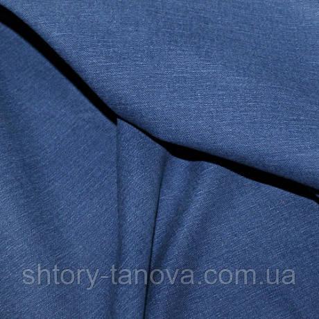 Ткань для обивки и штор хлопок софт, синий