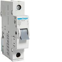 Автоматический выключатель Hager 1P 6kA B-40A 1M (MB140A)