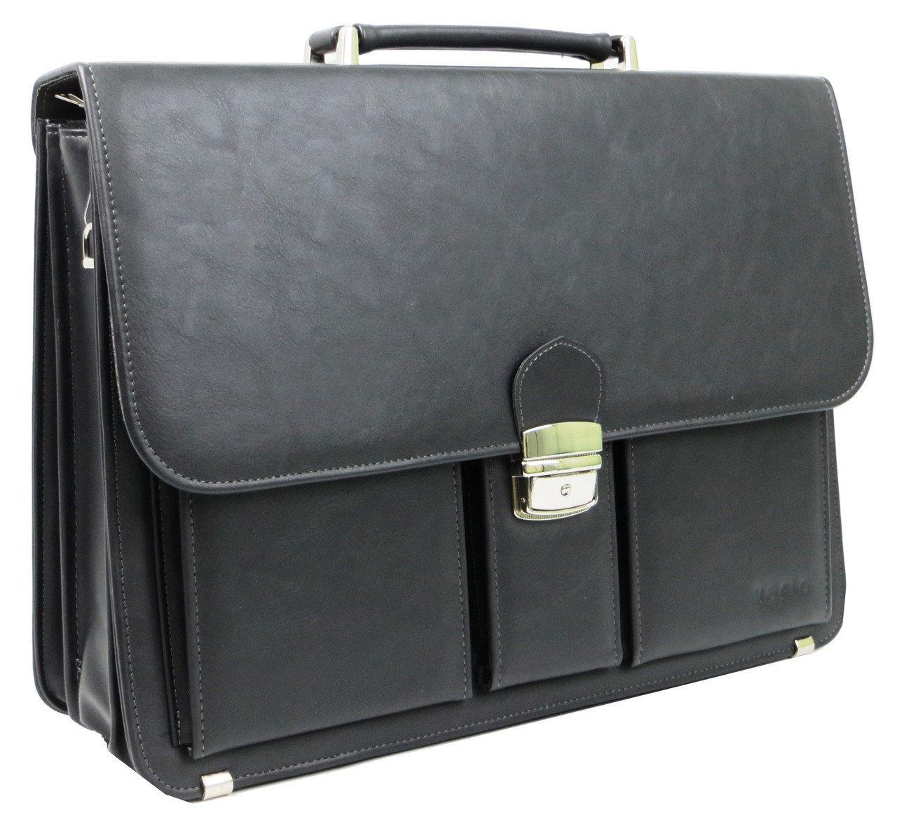 Діловий портфель зі штучної шкіри Verto A10AA1 Сірий