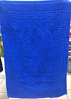 Полотенце коврик для ног  50х70 см Аisha Синий  (Узбекистан)