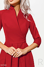 Длинное яркое вечернее платье на запа́х красного цвета, фото 3
