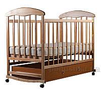 Детская кроватка Наталка с ящиком Ольха Светлая