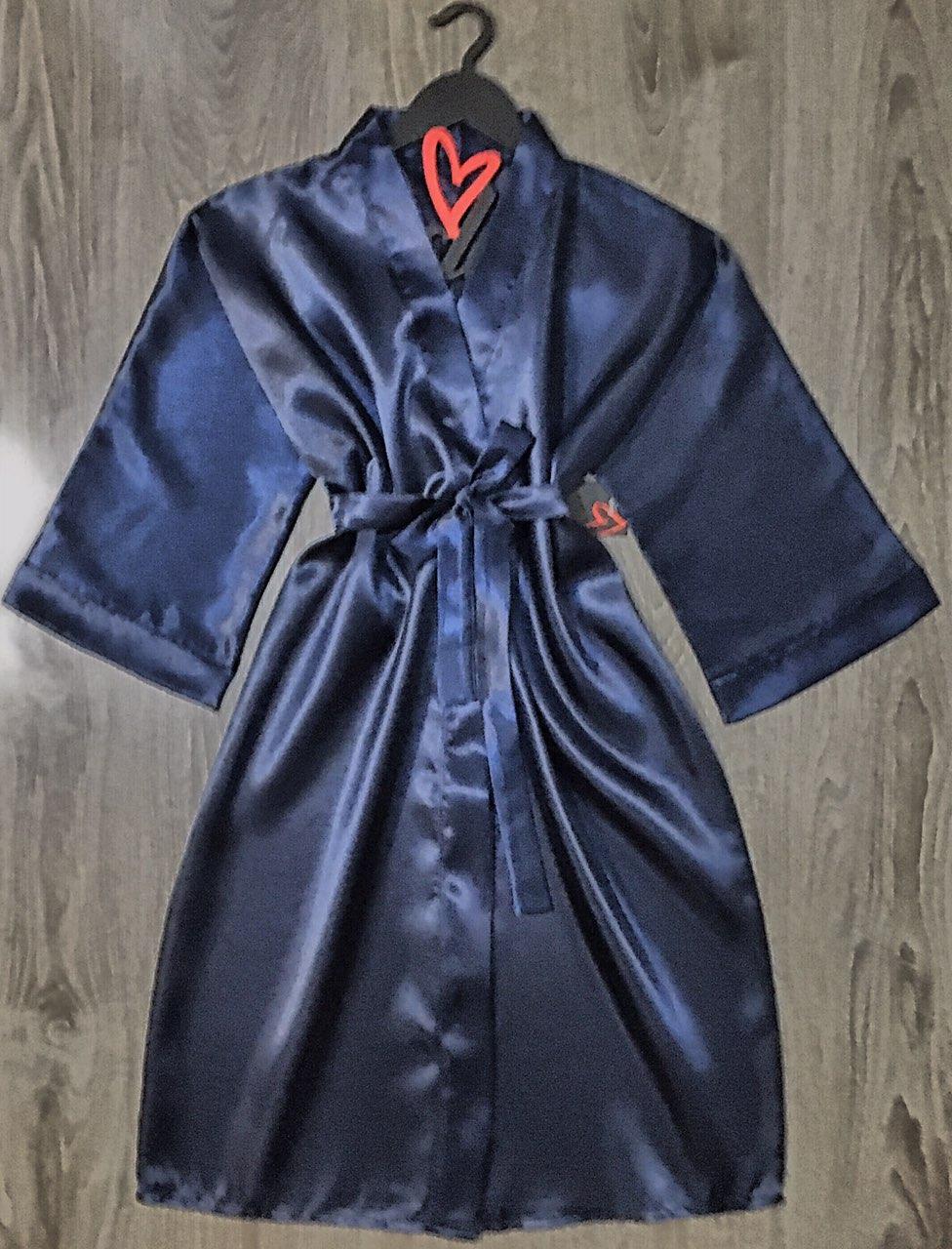 Атласный халат, женская одежда для дома и отдыха
