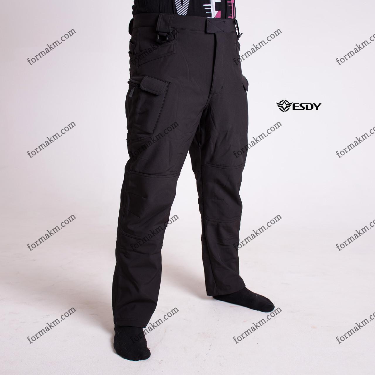 Тактические штаны Softshell Esdy Pro Черные