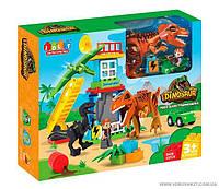 Конструктор Динозавры 43 детали, в коробке JDLT 5409