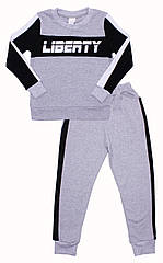 Комплект для мальчиков Valeri-Tex 2137-55-093-030 134 см Серый меланж 6120, КОД: 1226266