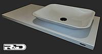 Накладной умывальник прямоугольный на столешницу в ванную