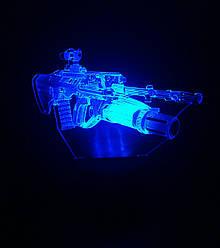 3d-светильник Автомат, 3д-ночник, несколько подсветок (на батарейке)