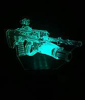 3d-светильник Автомат, 3д-ночник, несколько подсветок (на пульте)