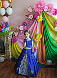 Шикарное длинное платье с золотым купоном на 6-10 лет, фото 7