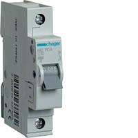 Автоматический выключатель Hager 1P 6kA C-10A 1M (MC110A)