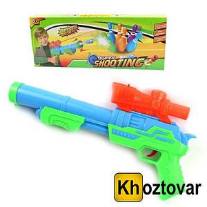 Детский пистолет-бластер с мягкими и гелевыми пулями Super Shooting