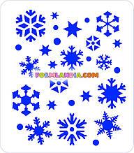 Трафарет для пряників Сніжинки №4