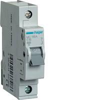 Автоматический выключатель Hager 1P 6kA C-16A 1M (MC116A)