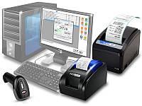 Комплект для автоматизации торговли (бутиков, небольших магазинов): принтер чеков, этикеток, сканер, программа