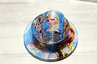 """Набор Детской Стеклянной Посуды 3 Предмета """"Эльза. Холодное сердце"""""""
