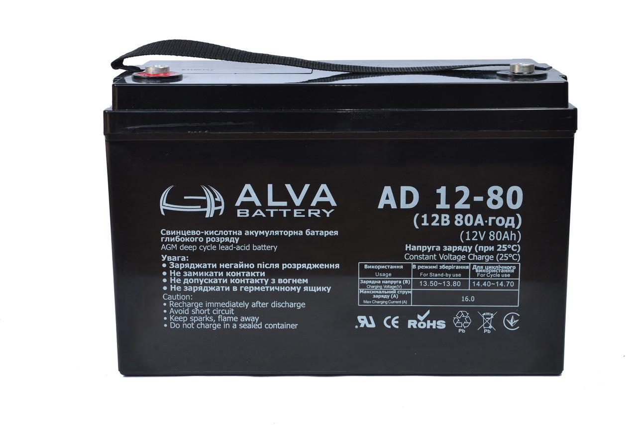 Акумуляторна батарея ALVA AD12-80 AGM