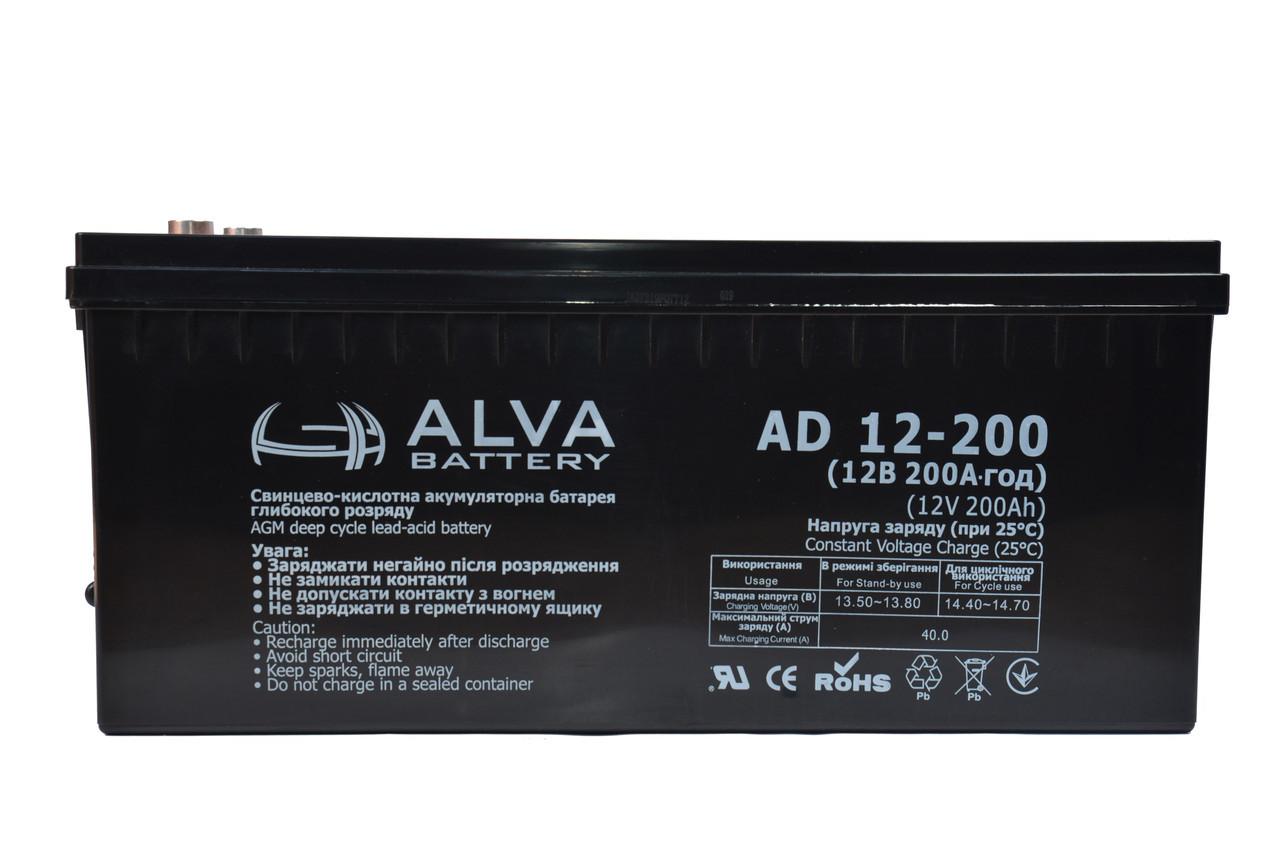 Аккумуляторная батарея ALVA AD12-200 AGM