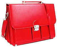 Женский портфель из эко кожи AMO Польша SST10 красный, фото 1