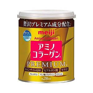 Японский Премиум Питьевой коллаген+гиалуроновая кислота+Q10 MEIJI Amino Collagen Premium 200g (на 28 дней)