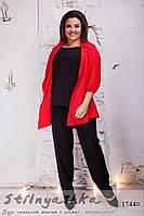 Стильная блузка для полных красная, фото 1