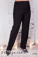 Черные женские брюки большого размера, фото 1