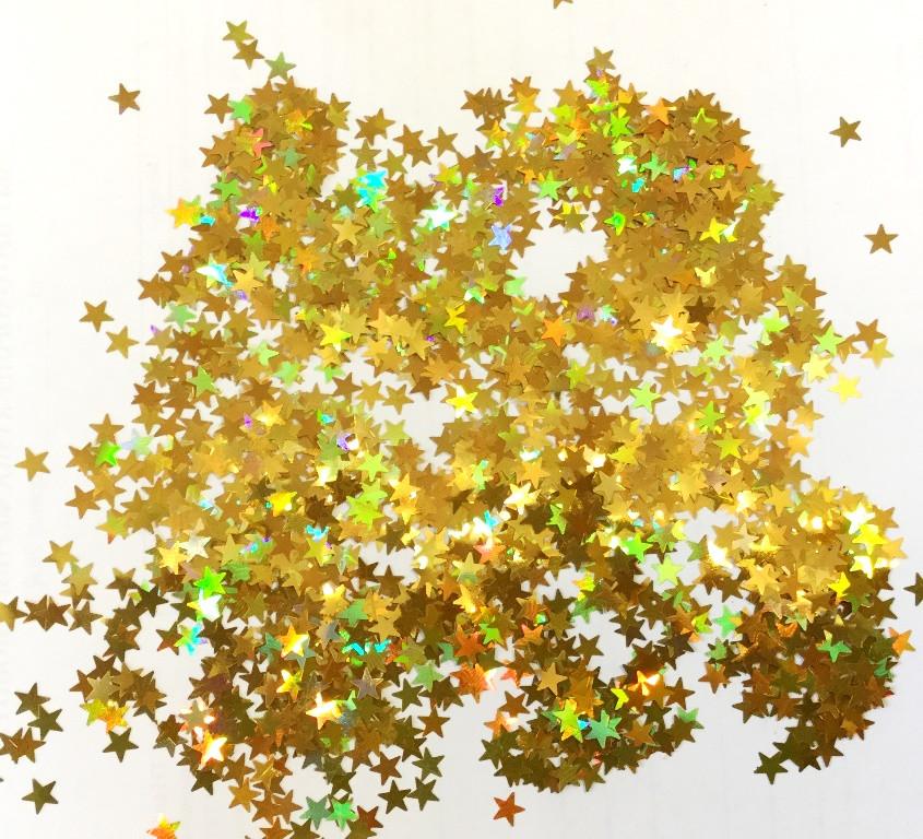 Глиттер Золотые звёздочки 10 гр