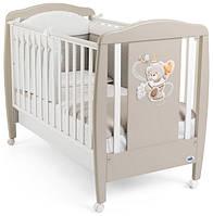 Детская кроватка Cam ORSO цвет кофейный с белым, бук/МДФ
