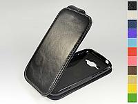 Откидной чехол из натуральной кожи для Samsung Galaxy J1 J100H