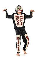 Детский карнавальный костюм Скелет на рост 140-150 см